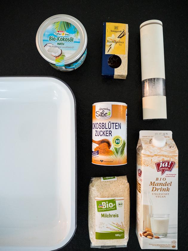 Meal Prep für Familien_Milchreis Zutaten