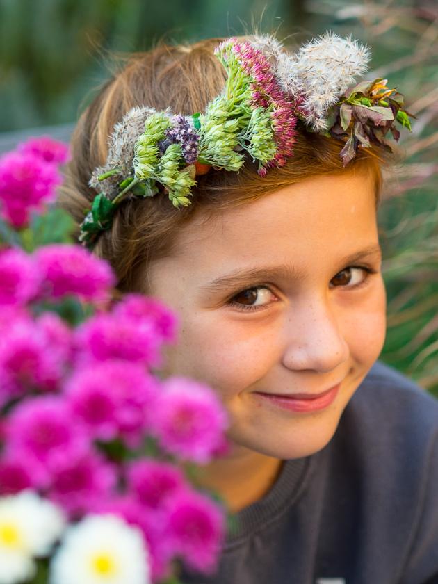 Brunchparty Kindergeburtstag für Mädchen_Blumenkranz