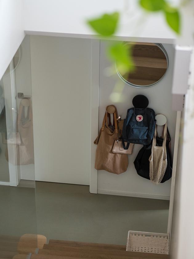 Vorraum für Familien_Taschen Garderobe