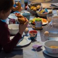 Familien Frühstückstisch
