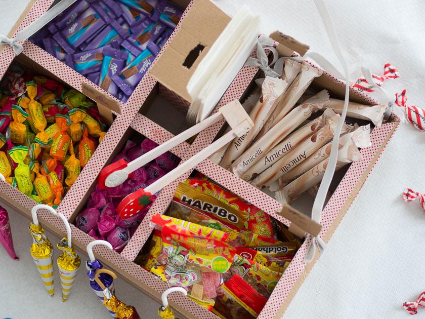 Familien-Faschings-Verkleidung_Zuckerl Bauchladen gefüllt