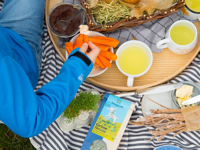 Ostern mit Kindern_Oster Picknick im Garten