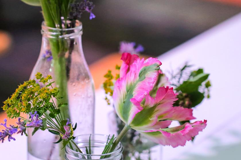 Kochevent Familienküche_Blumen Dekoration