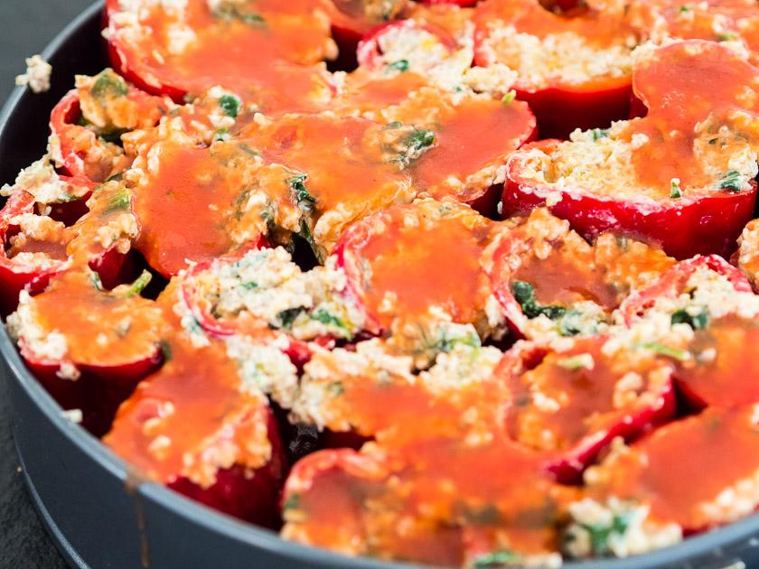 gefüllte Paprika, ein Familienrezept_vegetarisches Familienessen