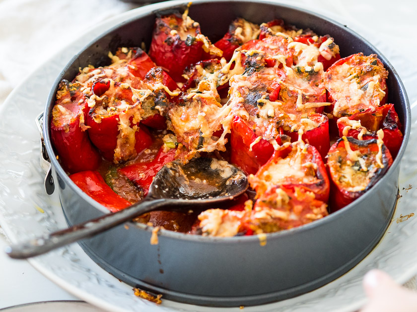 gefüllte Paprika, ein Familienrezept_Bulgur