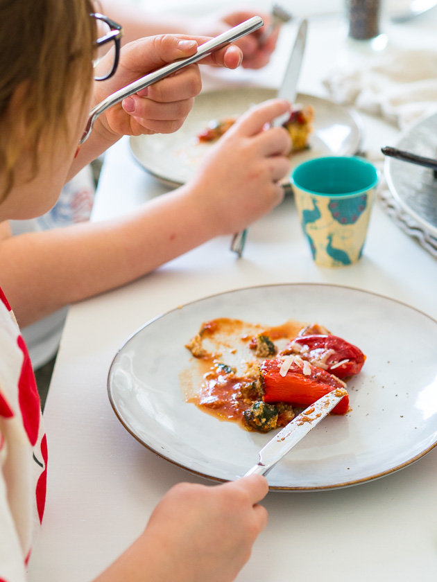 gefüllte Paprika, ein Familienrezept_Familienessen