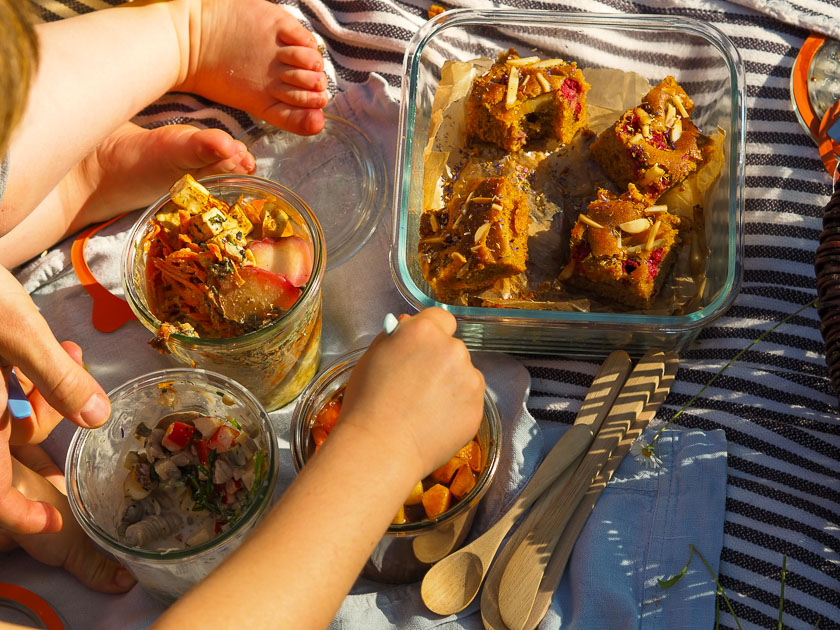 Familien Essen für draußen