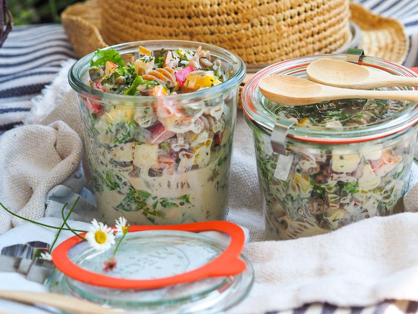 Sommer Rezepte für Freibad_Nudelsalat