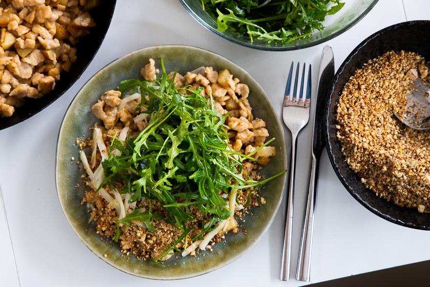 Birnen-Topfenspätzle Familienküche