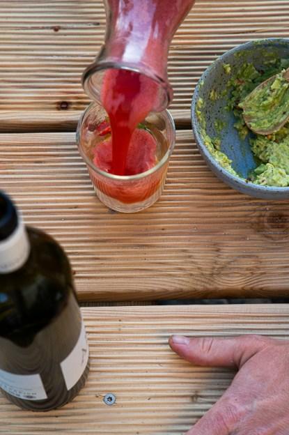 Appetizer Rhabarber Erdbeer Spritz Limo