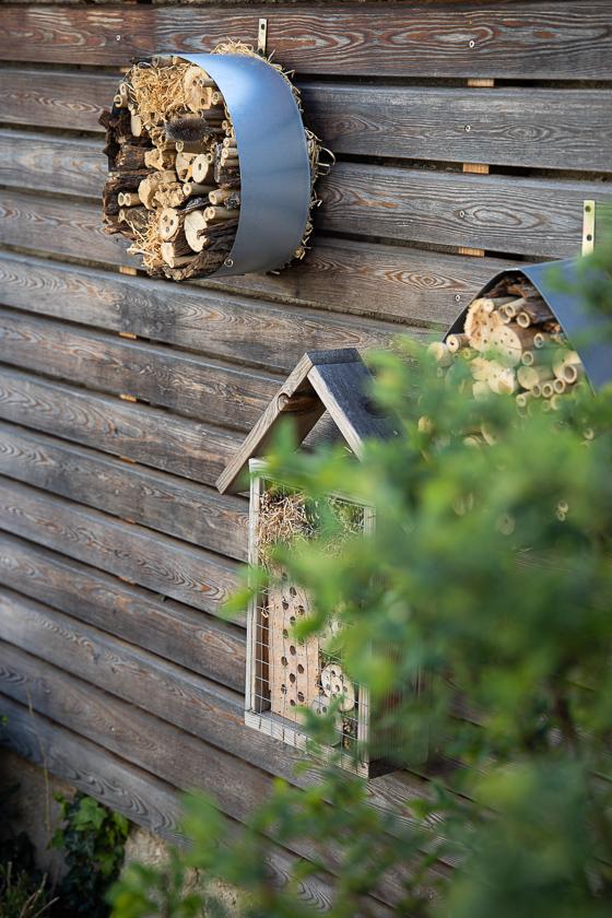 DIY Insektenhotel puristisch