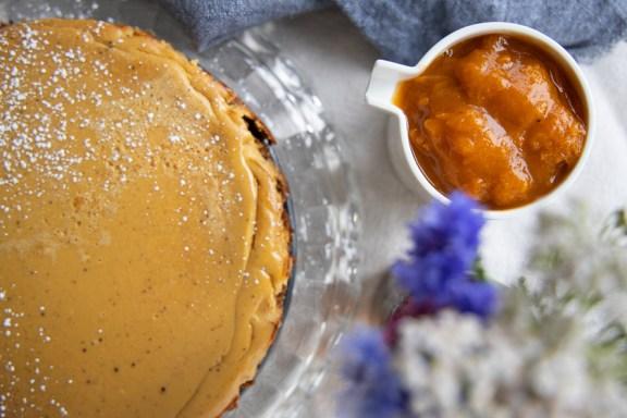 Cheesecake Ziegenfrischkäse Marillenröster
