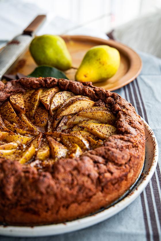 Birnenkuchen mit Feigen-Walnuss Honig