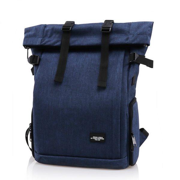 Фоторюкзак rolltop Lightpro MY01 с отделом под ноутбук синий