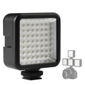 Мини накамерный свет Ulanzi Dimmable 49 LED портативный  фото видео освещение для стедикам