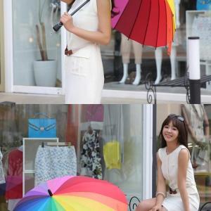 NIELLO Стильный разноцветный зонт радуга для фотосессии Длина 78см Диаметр 98 см