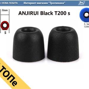 ANJIRUI амбушюра с пеной памяти для вакуумных наушников черный ОПТ