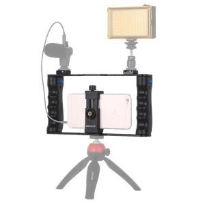 PULUZ металлическая рамка для смартфона блогера youtube,можно крепить смартфон, микрофон, свет,  PU3030