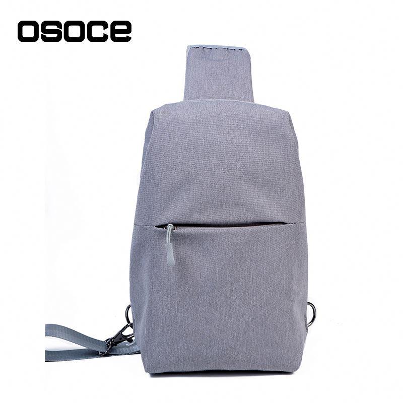 Слинг нагрудная сумка Osoce B18 Серая