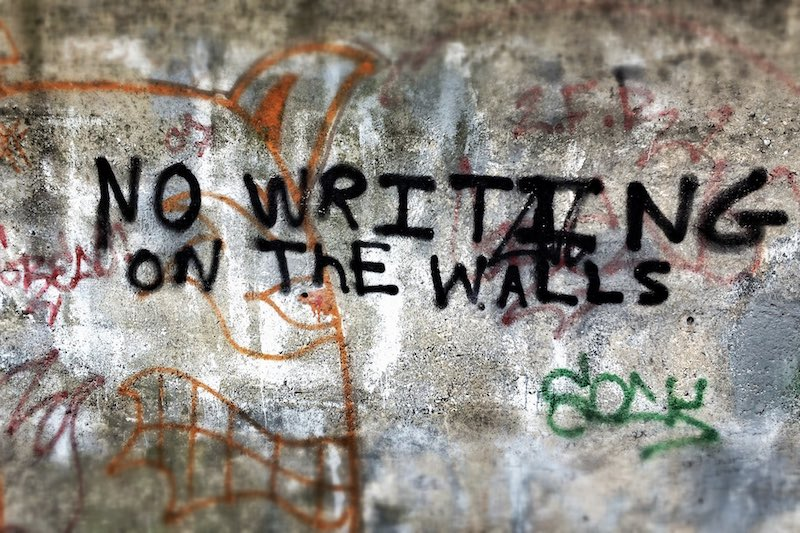 no writing on the wall