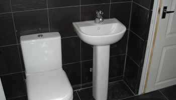 Bathroom, Toilet and sink