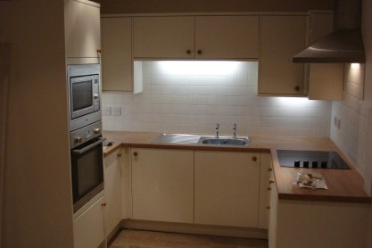 New wooden Kitchen with Appliances