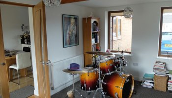 Garage Conversion to Music Room