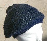 cappello blu lana