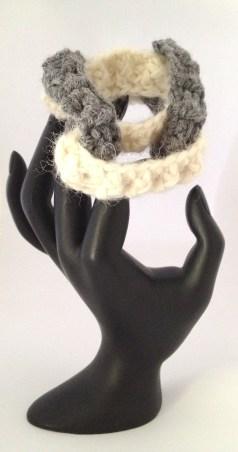 bracciale crochet lana 5