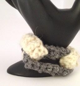bracciale crochet lana 6