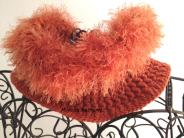 Scalda collo lavorato a crochet con lana merinos 100% https://www.etsy.com/it/listing/211219500/lana-arancione-scalda-collo-crochet
