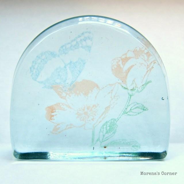 Painted glass paper weight martha stewart glass paint for Martha stewart glass paint instructions
