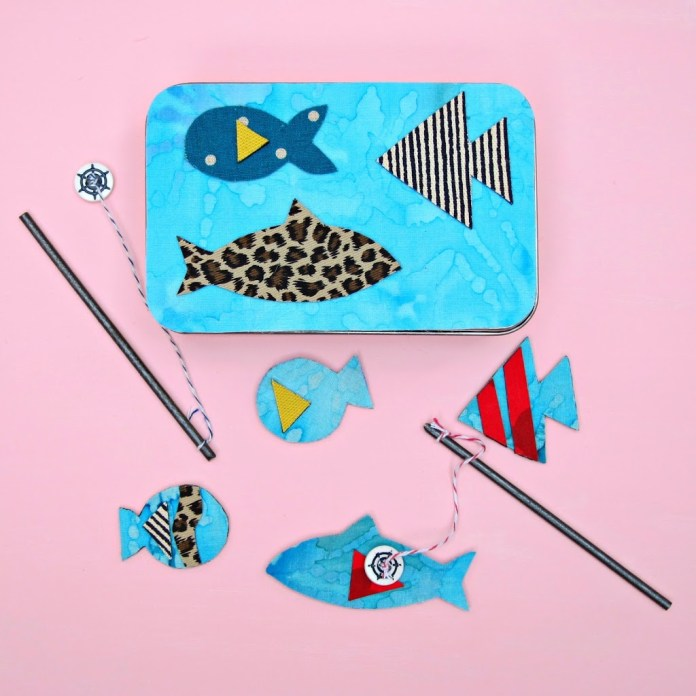 Make your own magnetic fishing game.  Fun kid's craft.