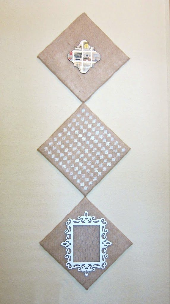 Diy Shabby Chic Burlap Wall Art Morena S Corner