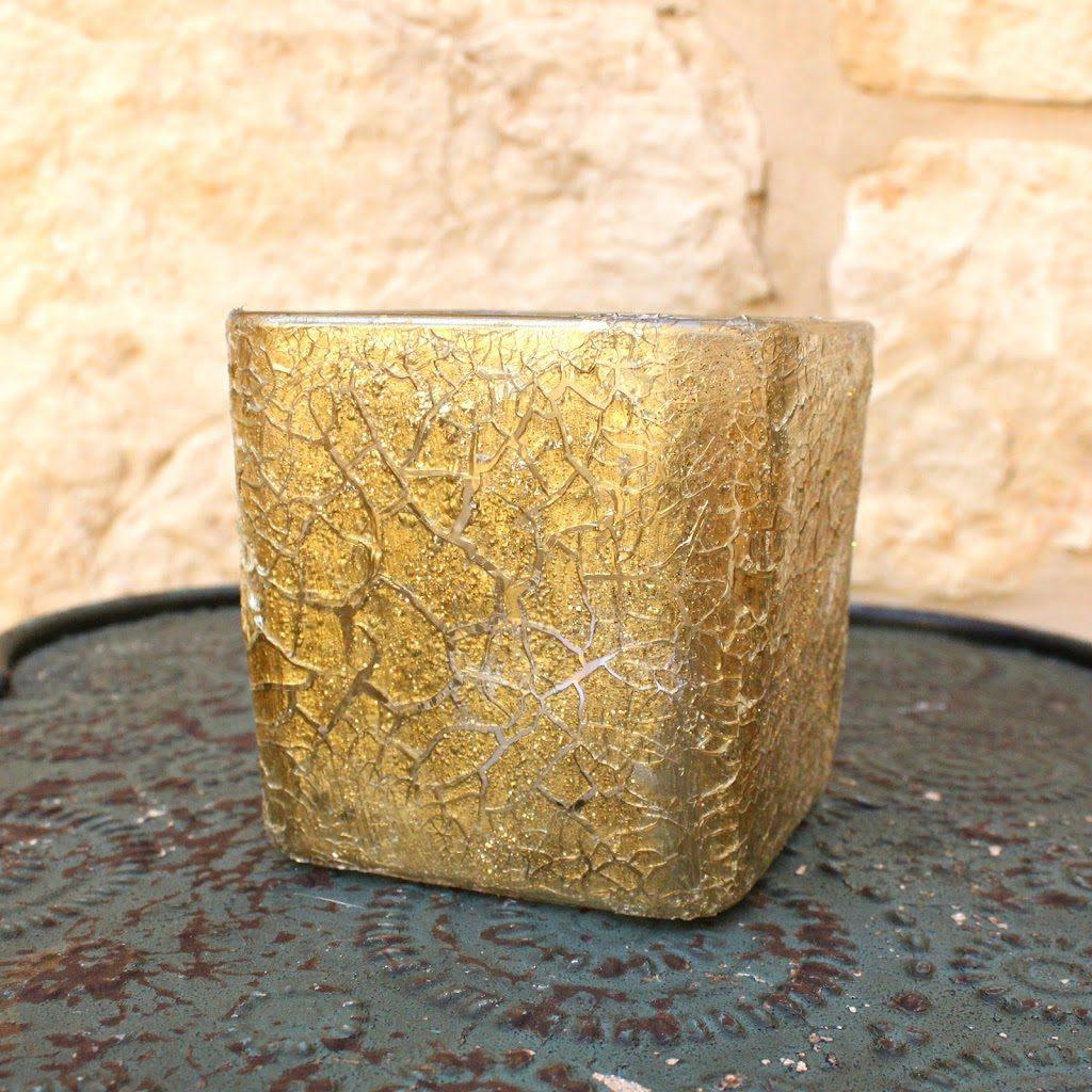 Faux Cracked Glass Votive Candle Holder - Morena\'s Corner