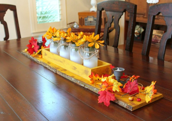 Learn how to create a chippy finish on a rustic fall tablescape. It's easier than you think to make!