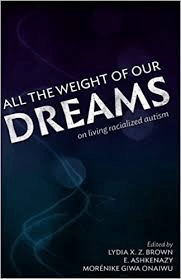 "Image is a picture of the front cover of the anthology ""All the Weight of Our Dreams: On Living Racialized Autism."""