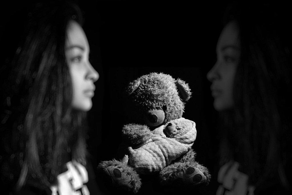 girl, memory, sad