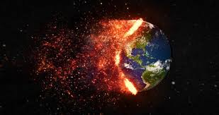 Image of the Earth burning and destroyed. Source is either Business Insider or unknown.