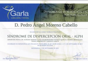 Diploma del Curso Avanzado de Dispercepción oral ALPH