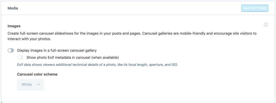 Display images in a full-screen carousel gallery using the Jetpack plugin