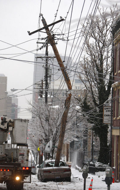 power pole ice storm