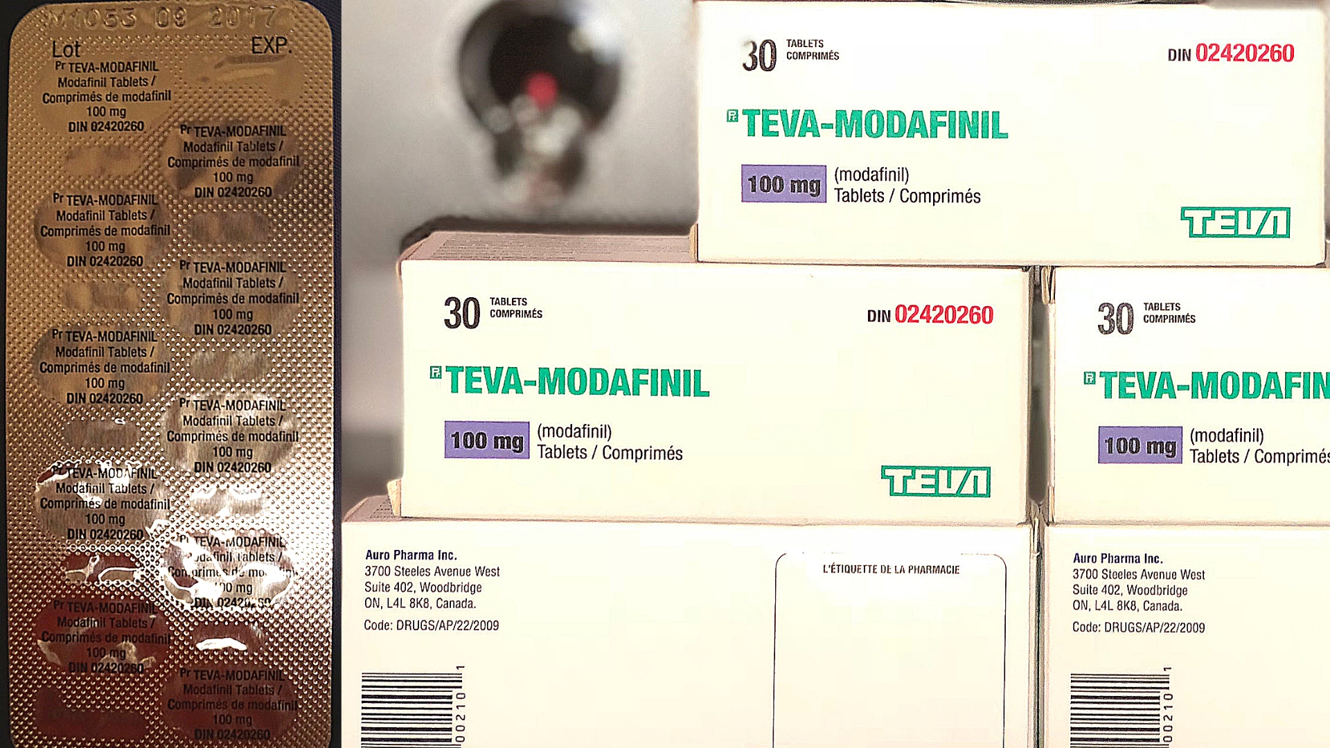 Blister Pack Of Modafinil and 5 Boxes Of Unopened Pharma Grade Modafinil