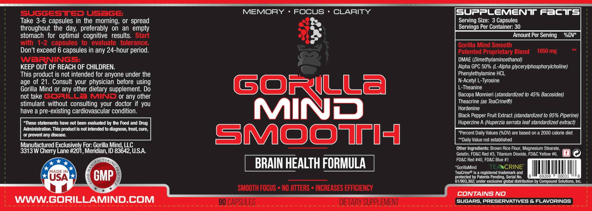 Gorilla Mind Smooth Label