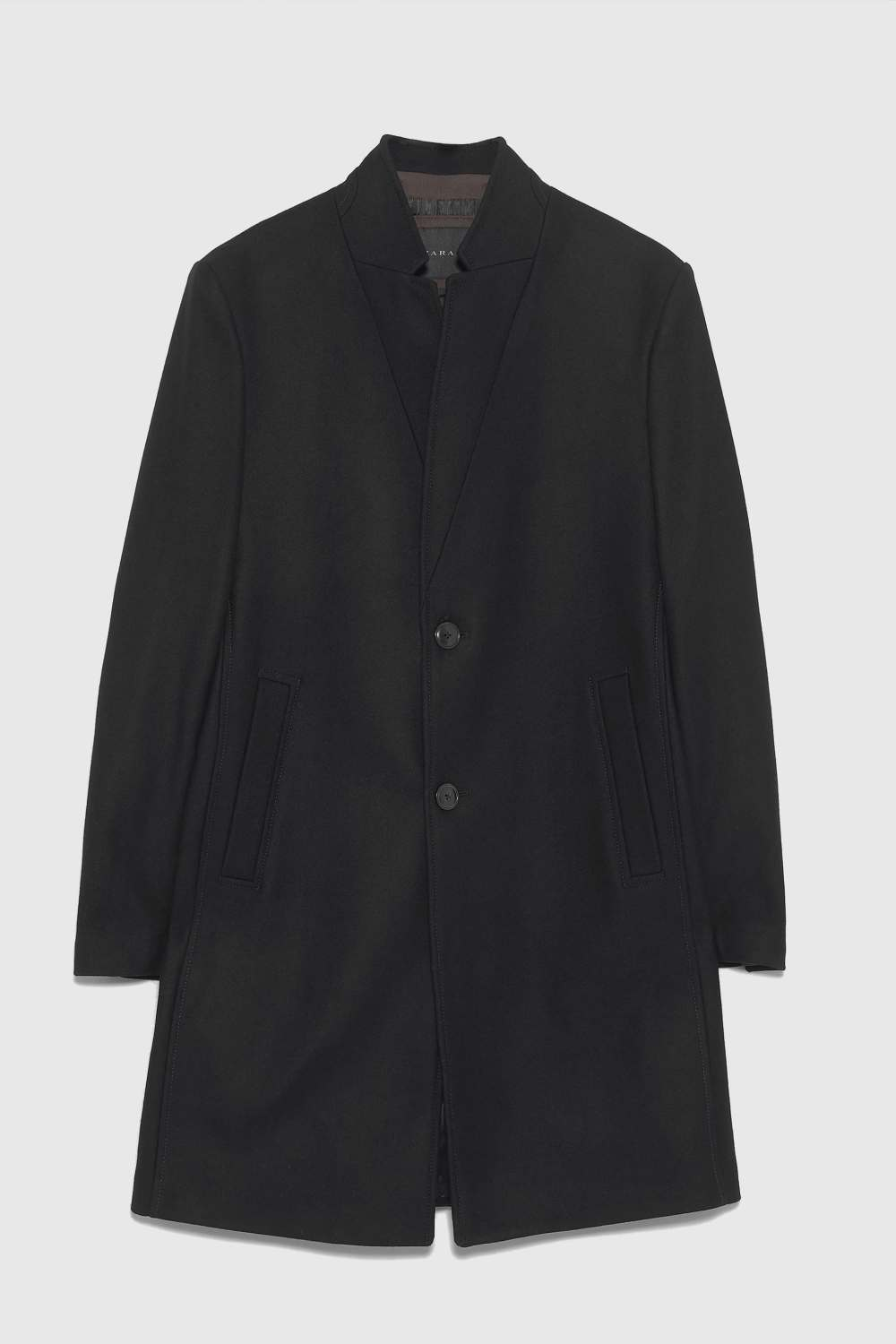 706b831a It's hard to find something in suit jackets or coats that aren't capped off  with a square.