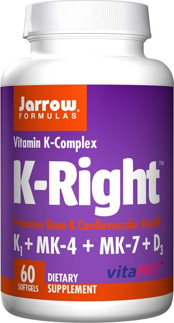 bottle of Jarrow Formulas Vitamin K2
