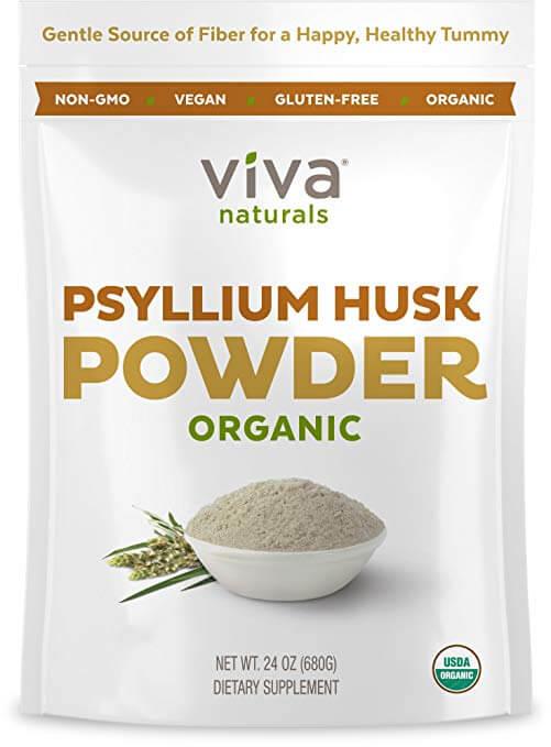 Bag Of Viva Naturals Organic Psyllium Husk
