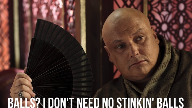 castrated varys holding fan