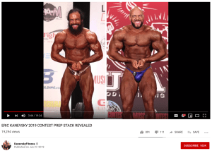 Video on YouTube of Eric Kanevsky's body from previous competition and 2019 competition after new cycle