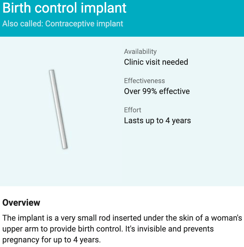 Birth Control Implant